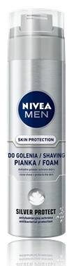 NIVEA MEN SILVER PROTECT PIANKA DO GOLENIA 200ML.