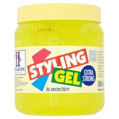 HEGRON Żel Styling Gel EXTRA STRONG ŻÓŁTY 500ML.