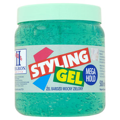 HEGRON Żel Styling Gel MEGA HOLD ZIELONY 500ML.