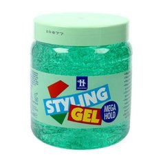HEGRON Żel Styling Gel MEGA HOLD ZIELONY 250ML.