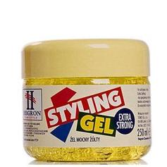 HEGRON Żel Styling Gel EXTRA STRONG ŻÓŁTY 250ML.