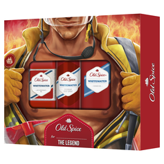 Old Spice Whitewater zestaw żel p/p 250ml+sztyft żel+deo spray 150ml.