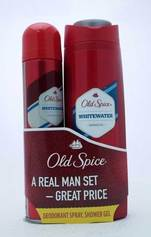 Old Spice Whitewater zestaw dezodorant spray 125ml+żel po prysznic 250ml