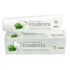 ECODENTA PASTA DO ZĘBÓW WYBIELAJĄCA z olejkiem miętowym esktraktem szałwiowym i bioaktywnym wapniem 100 ml.ED3