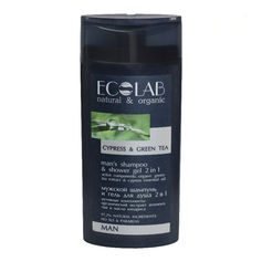 Ecolab Men Szampon i żel pod prysznic 2w1 dla mężczyzn imbir zielona herbata cyprys 250ml.EC95