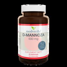 Medverita D-mannoza 500mg 50 kapsułek