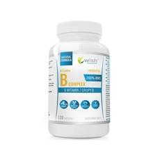Wish Witamina B Complex 200% RWS B1 B2 B3 B5 B6 B7 B9 B12 + Prebiotyk 120 kapsułek