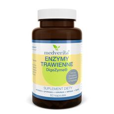 Medverita Enzymy Trawienne DigeZyme 60 kapsułek