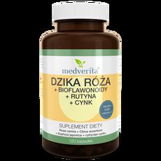 Medveita Dzika Róża + Bioflawonoidy + Rutyna + Cynk - 120 kapsułek