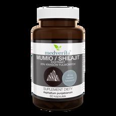 Medverita Mumio / Shilajit ekstrakt 20% kwasów fulwowych 60 kapsułek