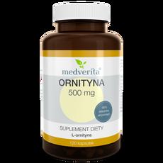 Medverita Ornityna L-ornityna 500 mg 120 kapsułek