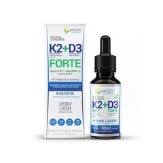 Wish Naturalna Witamina K2 MK-7 + D3 Forte w Kroplach 30ml dla Wegan