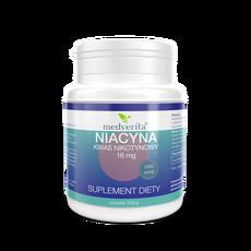 Medverita Niacyna 16 mg kwas nikotynowy - 250 gramów / 2500 porcji