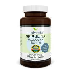 Medverita Spirulina hawajska Pacifica® 500 mg 50 kapsułek