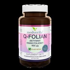 Medverita Q-Folian Quatrefolic® aktywny kwas foliowy 400µg 60 kapsułek