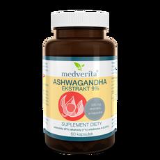 Medverita Ashwagandha ekstrakt 9% - 60 kapsułek