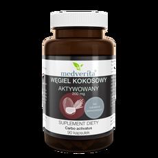 Medverita Węgiel kokosowy aktywowany 200 mg - 90 kapsułek
