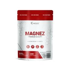 Wish Magnez Cytrynian Magnezu w Proszku 500g Produkt Vege