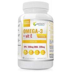 Wish Omega 3 1000mg Forte Gold + Witamina E 90 kapsułek