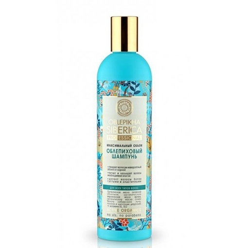 Natura Siberica szampon rokitnikowy maksymalna objętość 400ml. NS101