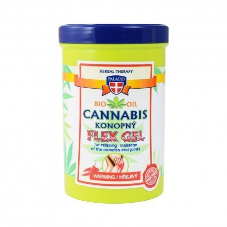 Palacio Cannabis konopny rozgrzewający żel do masażu FLEX GEL 380ml (1)