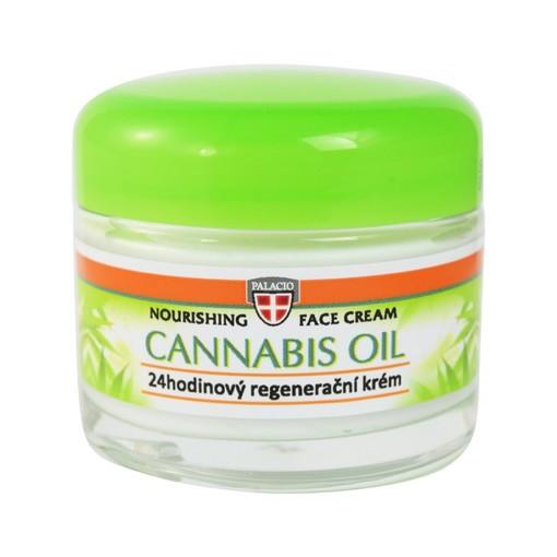 Palacio Konopny Krem do twarzy z olejem z konopi 12% Cannabis Oil 50ml  (2)